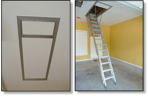 Electric Attic Ladder One Touch