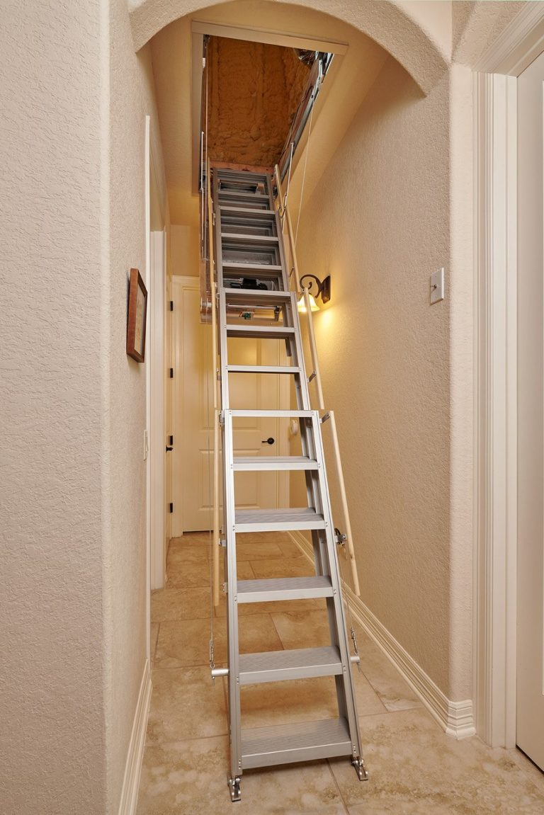 One Touch Electric Attic Stairway
